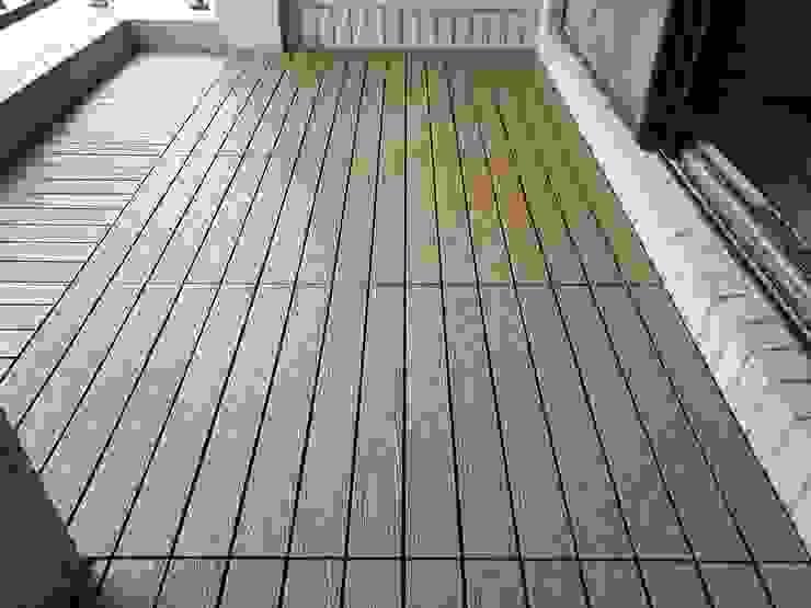 【陽台美化—卡扣式塑木地版】 根據 新綠境實業有限公司 日式風、東方風 塑木複合材料