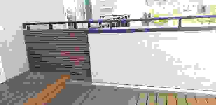 【NewTechWood牆板─不需維護的木質牆面】 Modern walls & floors by 新綠境實業有限公司 Modern Wood-Plastic Composite