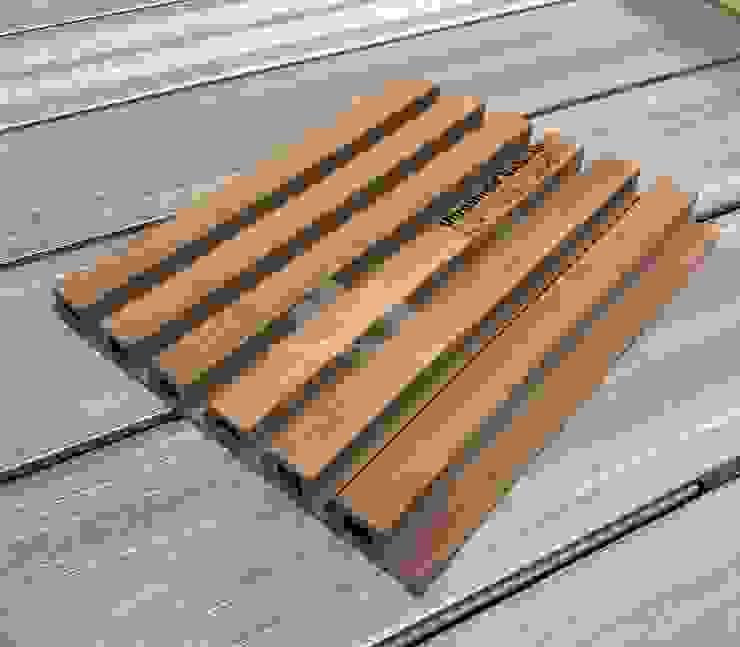 NewTechWood 很受歐美市場喜歡新款UH46柚木格柵型牆板 Modern walls & floors by 新綠境實業有限公司 Modern Wood-Plastic Composite