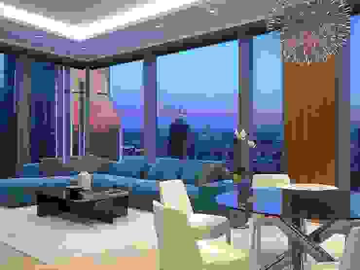Capital Towers City Tower гостиная Гостиная в стиле минимализм от Архитектурная мастерская Александра Ордынцева Минимализм