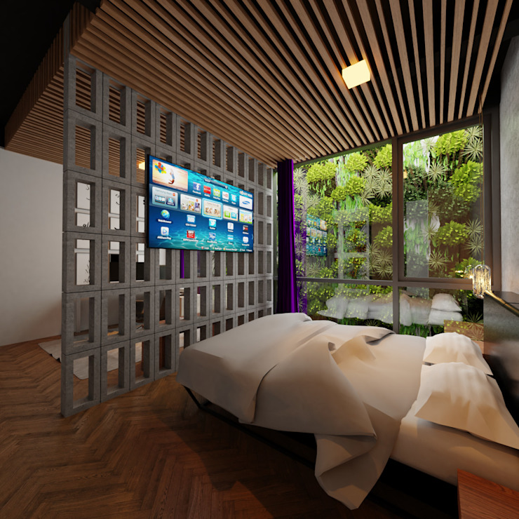 Kamar Utama:modern  oleh Gubah Ruang, Modern