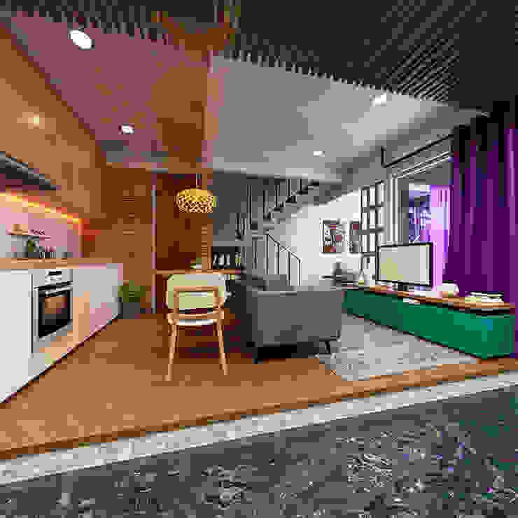 Ruang Keluarga:modern  oleh Gubah Ruang, Modern