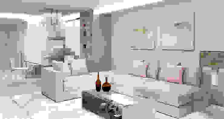 Apartamento Barrio Salamanca Madrid Salones de estilo moderno de Alicia Peláez Sevilla - Interiorismo y Decoración Moderno