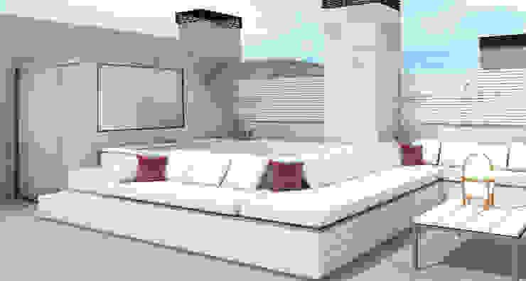 Apartamento Barrio Salamanca Madrid Balcones y terrazas de estilo moderno de Alicia Peláez Sevilla - Interiorismo y Decoración Moderno