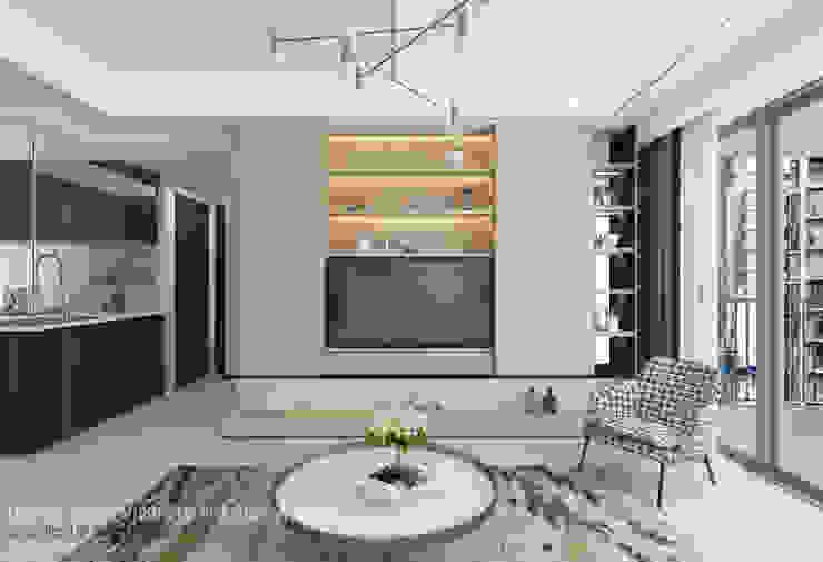 TV console Minimalist living room by Swish Design Works Minimalist Plywood