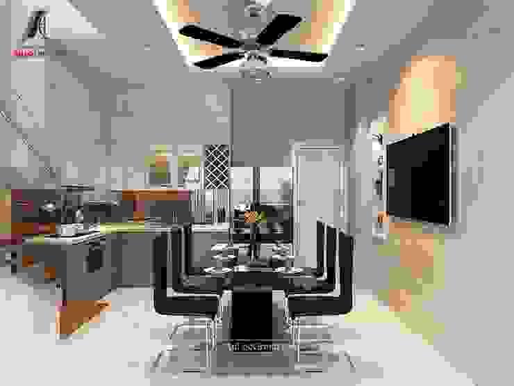 Mẫu nội thất nhà phố đẹp tại Vĩnh Phúc Phòng ăn phong cách hiện đại bởi Nội Thất An Lộc Hiện đại