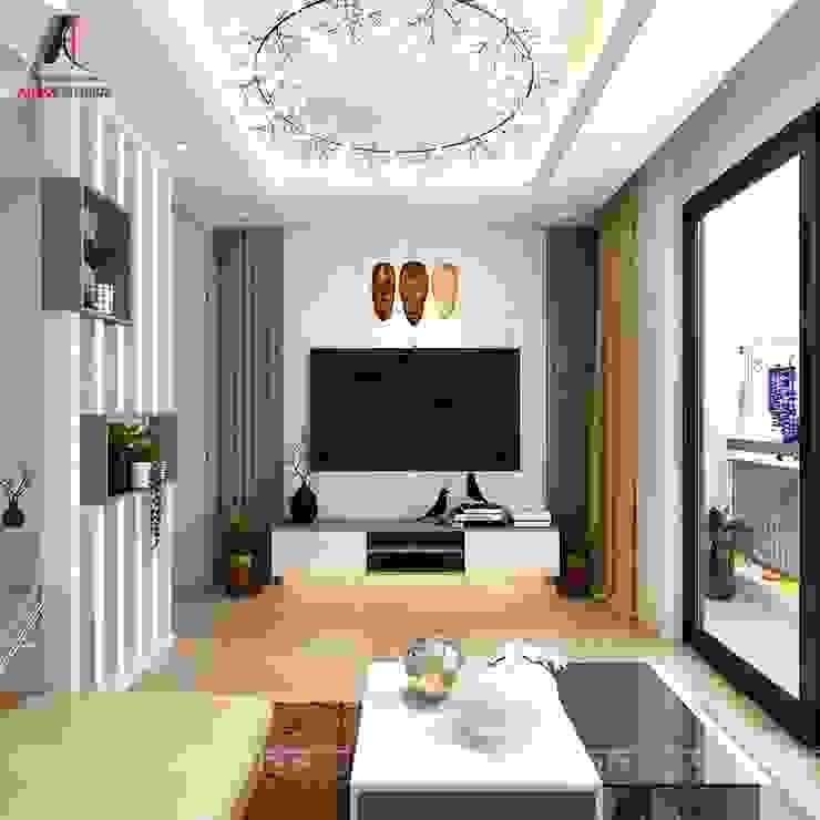 Mẫu nội thất nhà phố đẹp tại Vĩnh Phúc bởi Nội Thất An Lộc Hiện đại