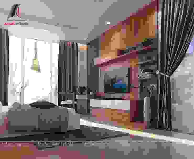 Mẫu nội thất nhà phố đẹp tại Vĩnh Phúc Phòng ngủ phong cách hiện đại bởi Nội Thất An Lộc Hiện đại