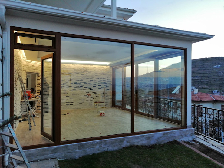 Pencere Ve Panjur Sistemleri SEDGRUP YAPI Pencere & KapılarPencere Dekorasyonu Cam Ahşap rengi