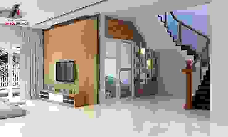 Hình ảnh thiết kế nội thất nhà phố tại Bắc Giang bởi Nội Thất An Lộc Hiện đại