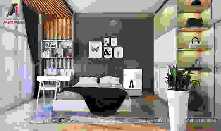 Hình ảnh thiết kế nội thất nhà phố tại Bắc Giang Phòng ngủ phong cách hiện đại bởi Nội Thất An Lộc Hiện đại