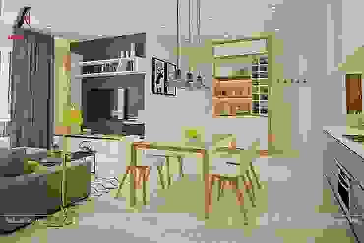 Mẫu nội thất căn hộ 73m2 tại Dreamland Bonanza Duy Tân Phòng ăn phong cách hiện đại bởi Nội Thất An Lộc Hiện đại