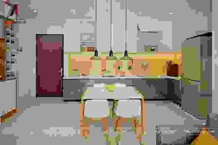 Mẫu nội thất căn hộ 73m2 tại Dreamland Bonanza Duy Tân Nhà bếp phong cách hiện đại bởi Nội Thất An Lộc Hiện đại