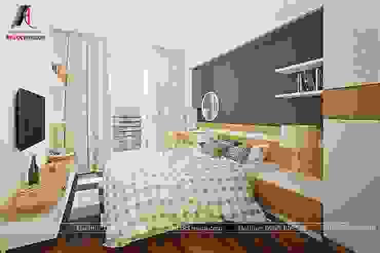 Mẫu nội thất căn hộ 73m2 tại Dreamland Bonanza Duy Tân Phòng ngủ phong cách hiện đại bởi Nội Thất An Lộc Hiện đại