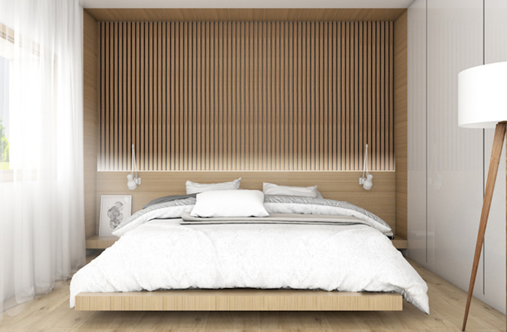 Paolo Nadin Architetto Modern style bedroom