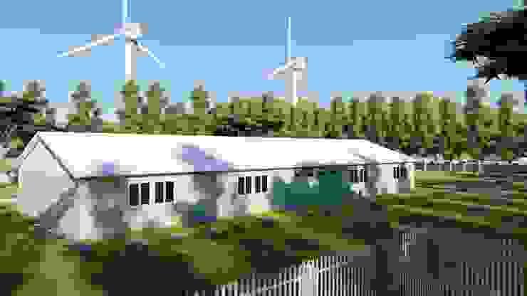 PRAMO PREFABRİCATED & STEEL Gable roof Aluminium/Zinc Beige