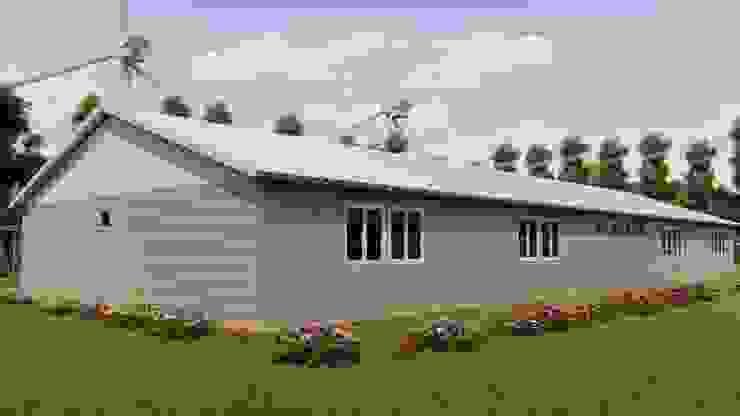 PRAMO PREFABRİCATED & STEEL Prefabricated home OSB Grey