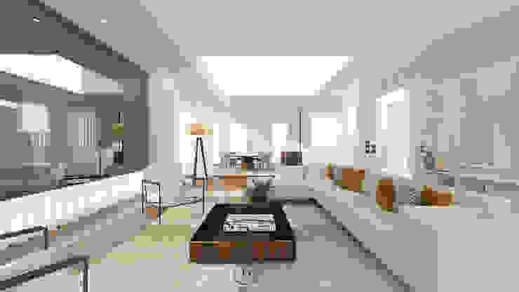 Moradia Foz do Douro Salas de estar modernas por Donna - Exclusividade e Design Moderno