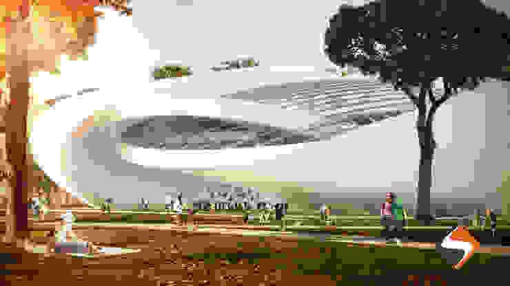 Salones de eventos de estilo moderno de Segnoprogetto Srl Moderno Aluminio/Cinc