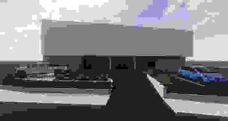 HOSPITAL VETERINARIO - FACHADA PRINCIPAL Estudios y despachos de estilo moderno de Agoin Moderno
