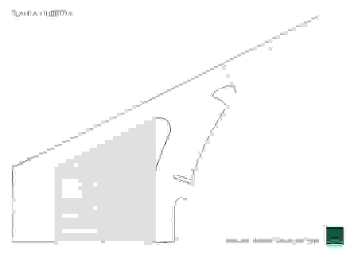 HOSPITAL VETERINARIO - PLANTA CUBIERTA Estudios y despachos de estilo moderno de Agoin Moderno