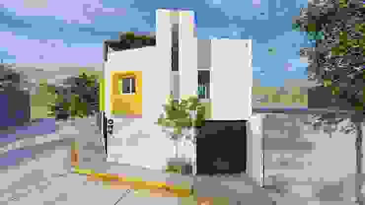 Fachada Principal Casas minimalistas de Vértice Arquitectos Minimalista Concreto