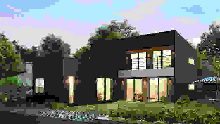 안정감을 더하여 간결한 선과 면이 돋보이는 주택 by 공간제작소(주) 모던