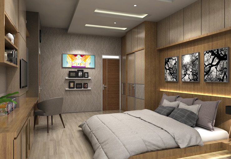 Minimalist bedroom by unimony.id Minimalist