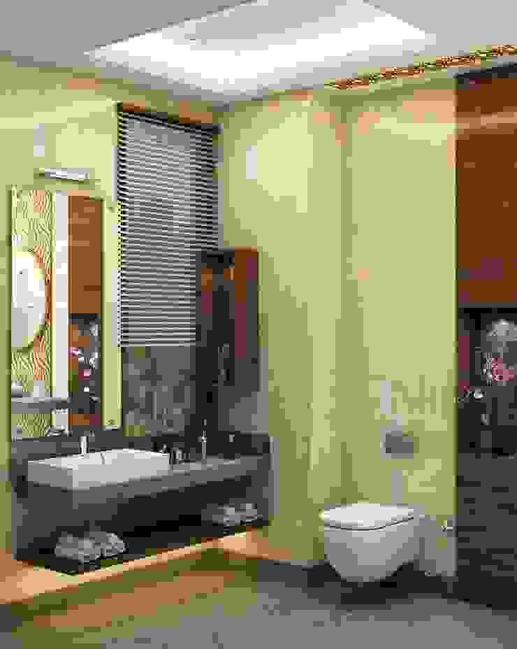 Residence 500sqmt Modern bathroom by Inception Design Cell Modern Wood Wood effect