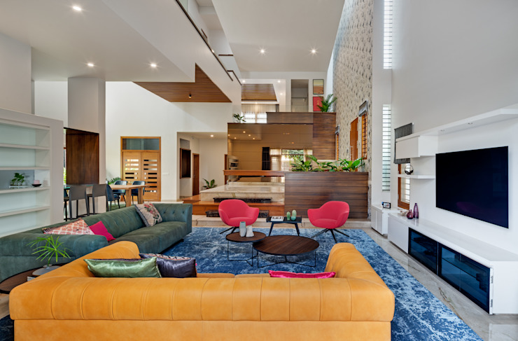 C - House Eclectic style living room by M9 Design Studio Eclectic