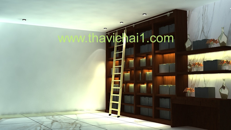ออกแบบตกแต่งบ้าน 2 ชั้น โดย PROFILE INTERIOR STUDIO ผสมผสาน แผ่นไม้อัด