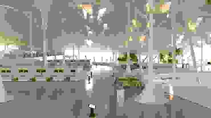 vista interior Aeropuertos de estilo moderno de GilBartolome Architects Moderno