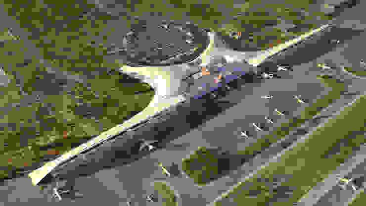 vista aerea Fase 2 Aeropuertos de estilo moderno de GilBartolome Architects Moderno