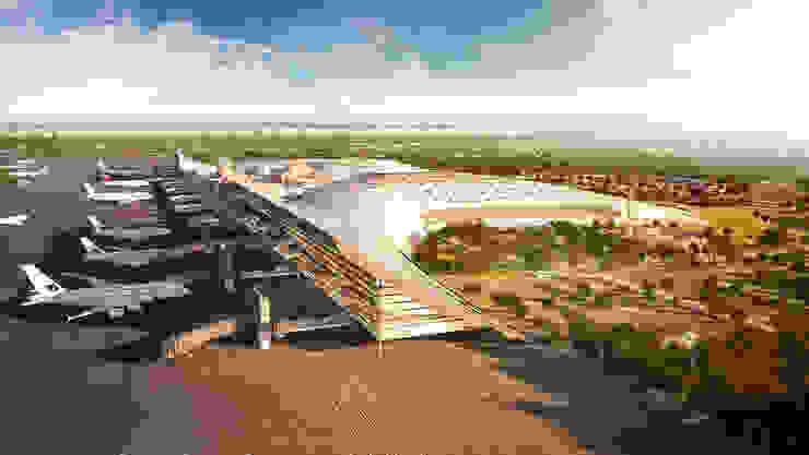 vista lateral Aeropuertos de estilo moderno de GilBartolome Architects Moderno