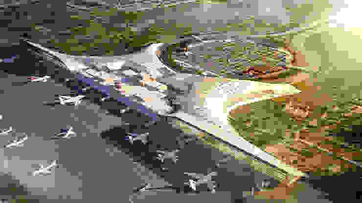 vista aerea Fase 1 Aeropuertos de estilo moderno de GilBartolome Architects Moderno