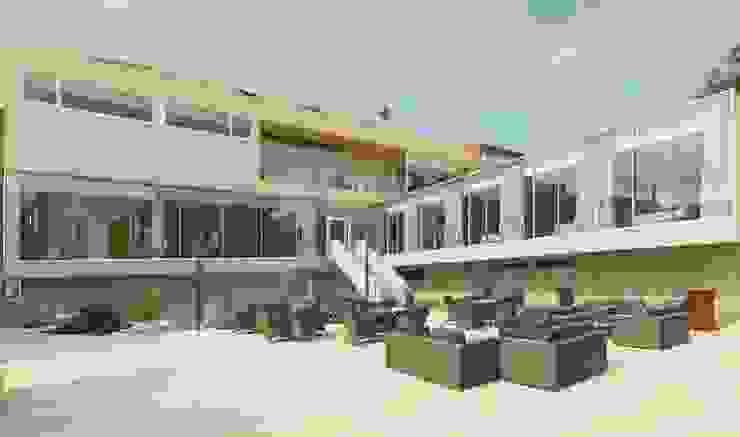 Esplanada interior Hotéis modernos por Versatilis Inovação Design Moderno