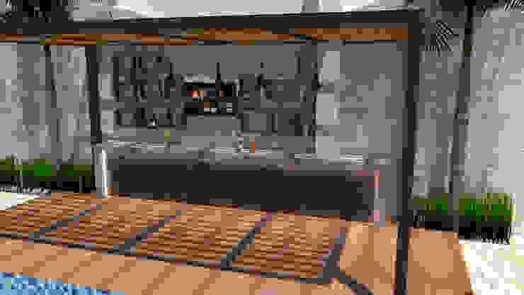 Barra de preparación Piscinas de estilo moderno de AS Arquitectos Moderno