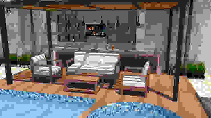 Sala de estar Piscinas de estilo moderno de AS Arquitectos Moderno