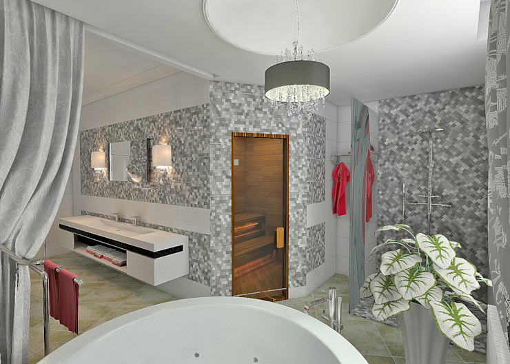 Eclectic style bathroom by STUDIO DESIGN КРАСНЫЙ НОСОРОГ Eclectic