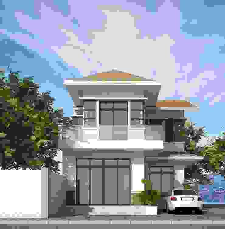 Mẫu nhà ngang 7m 2 tầng đẹp bởi Công ty xây dựng nhà đẹp mới