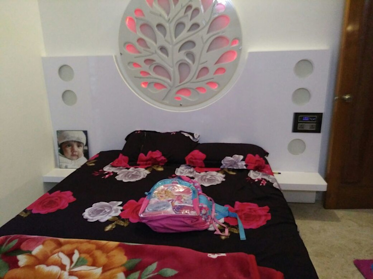 Automation in Kids room, with RGB Mood lighting 3S associates Girls Bedroom Ceramic Brown