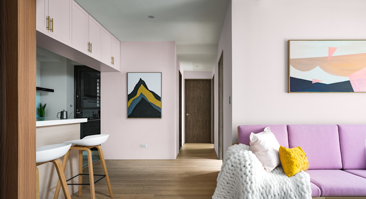 Scandinavian walls & floors by 築室室內設計 Scandinavian