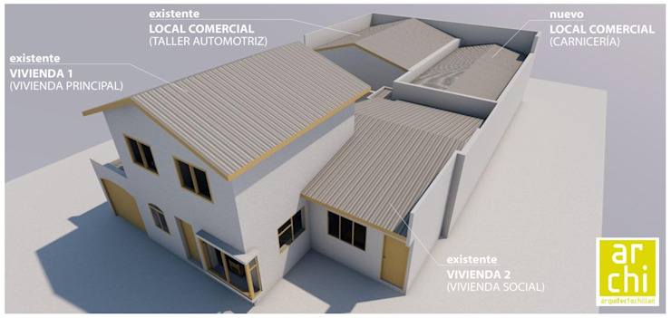 ARQUITECTO CHILLAN EIRL Commercial Spaces Reinforced concrete