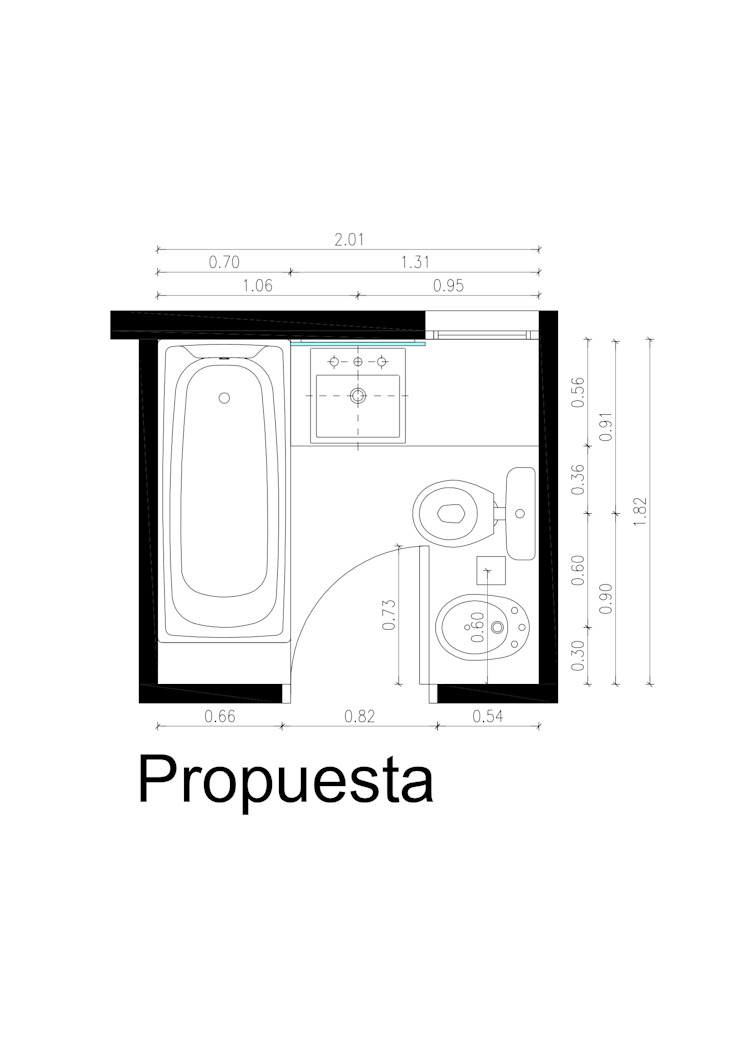 Casas de banho modernas por REZ Arquitectura | Diseño | Construcción Moderno Cerâmica