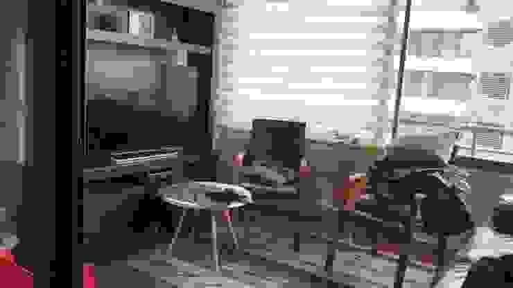 Antes sala de estar terraza de Estudio Arquitectura y construccion PR/ Arquitectura, Construccion y Diseño de interiores / Santiago, Rancagua y Viña del mar Moderno