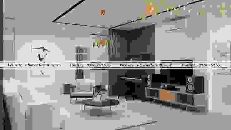 Thiết kế thi công nội thất chung cư – Green pearl Minh khai bởi Thiết kế thi công nội thất - Nhà Việt Furniture Hiện đại