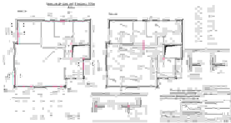 Bewehrungsplan Decke über EG: modern  von ESTATIKA GmbH,Modern