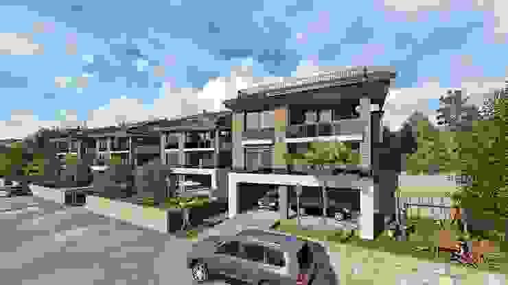 Osmaniye Hasanbeyli'de Dağ Evleri Çalık Konsept Mimarlık Villa Kahverengi
