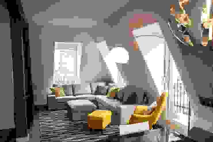 Sofa Gris de MUEBLES DG Moderno