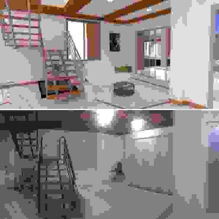 Salones modernos de PyH Diseño y Construcción Moderno